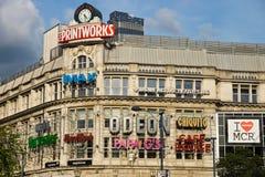Manchester Printworks façade Stock Afbeeldingen