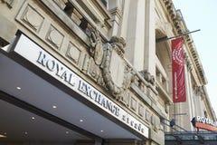 Manchester, R-U - 10 mai 2017 : Extérieur du bâtiment royal de théâtre d'échange à Manchester Images stock