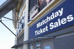 Manchester, Regno Unito - 4 maggio 2017: Biglietterie allo stadio di football americano di Manchester City Immagine Stock