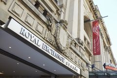 Manchester, Regno Unito - 10 maggio 2017: Esterno della costruzione reale del teatro di scambio a Manchester Immagini Stock