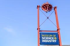 Manchester, Reino Unido - 4 de abril de 2015 - museo de la ciencia y de la industria Fotos de archivo