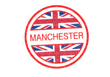 MANCHESTER Rubber Stamp Stock Photos
