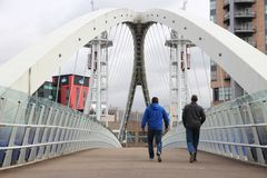 Manchester Salford Quays Stock Image