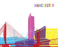 Manchester skyline pop Royalty Free Stock Photography