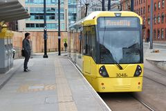 Manchester spårvagn Royaltyfri Bild