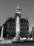 Manchester stad Hall Cenotaph England Royaltyfria Bilder