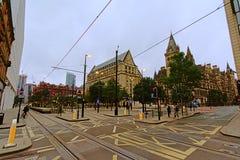Manchester stadshus och rådkundtjänstmitt royaltyfria bilder