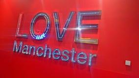 Manchester tecken Arkivfoto