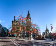 Manchester Town Hall on Chinese New Year Stock Photography