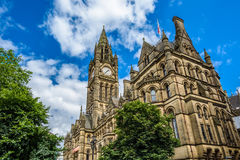 Manchester Town Hall. Clock tower of Manchester Town Hall, England Stock Photography