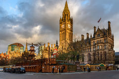 Manchester Town Hall England Stock Photo
