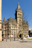 Manchester Town Hall England. Manchester town hall, old landmark in England Royalty Free Stock Photos
