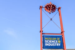 Manchester UK - 04 April 2015 - museum av vetenskap och bransch arkivfoton