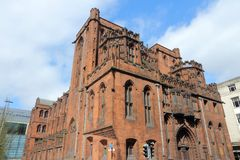 Manchester, UK. Manchester - city in North West England (UK). Famous John Rylands Library royalty free stock image