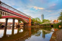 Castlefield, the inner city conservation area in Manchester, UK stock image