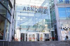 Manchester, UK - 4 May 2017: Exterior Of The Arndale Shopping Centre In Manchester UK Royalty Free Stock Images