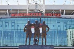 Manchester, UK - 4 May 2017: Exterior Of Manchester United Football Stadium Stock Images
