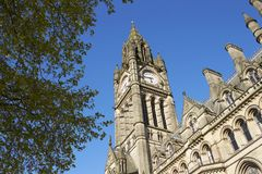 Manchester, UK - 4 May 2017: Exterior Of Manchester Town Hall Building Stock Image