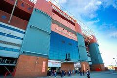 Sir Alex Ferguson Bronze statue at Old Trafford stadium in Manchester, UK