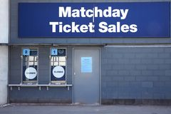 Manchester, UK - 4 May 2017: Ticket Booths At Manchester City Football Stadium stock images