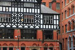 Manchester, UK. Old architecture with timber framing Royalty Free Stock Photos