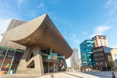 The Lowry at Salford Quays, Manchester, England. royalty free stock image