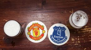 Manchester United εναντίον Everton στοκ φωτογραφίες