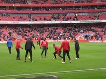 Manchester United at Arsenal royalty free stock photo