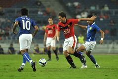 Manchester United contra Malaysia XI 2009 Foto de Stock Royalty Free