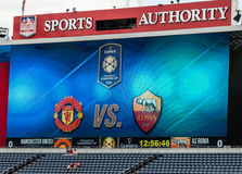 Manchester United contre COMME Roma Image stock