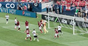 Manchester United contro COME Roma Fotografia Stock