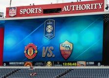 Manchester United contro COME Roma Immagine Stock