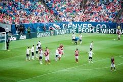 Manchester United contro COME Roma Fotografie Stock Libere da Diritti