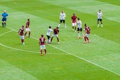 Manchester United contro COME Roma Immagine Stock Libera da Diritti