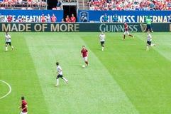 Manchester United contro COME Roma Fotografia Stock Libera da Diritti