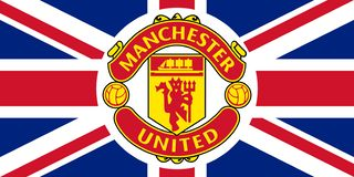 Manchester United emblem on the Union Jack vector illustration