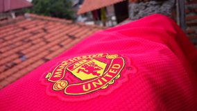 Manchester United England& x27; s Trots Stock Afbeelding