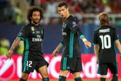 MANCHESTER UNITED FÖR REAL MADRID V: TOPPEN KOPP FÖR UEFA fotografering för bildbyråer