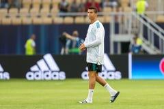 MANCHESTER UNITED FÖR REAL MADRID V: TOPPEN KOPP FÖR UEFA arkivbild
