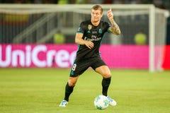MANCHESTER UNITED FÖR REAL MADRID V: TOPPEN KOPP FÖR UEFA arkivbilder