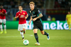 MANCHESTER UNITED FÖR REAL MADRID V: TOPPEN KOPP FÖR UEFA arkivfoto