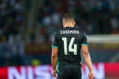 MANCHESTER UNITED FÖR REAL MADRID V: TOPPEN KOPP FÖR UEFA royaltyfri foto