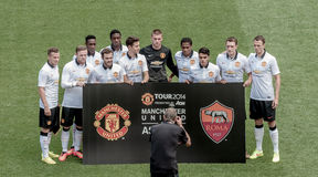 Manchester United. Football Club is an English professional football club, based in Old Trafford, Greater Manchester that plays in the Premier League. Tour 2014 Royalty Free Stock Photos
