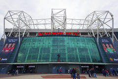 Manchester United Football Club stadium. MANCHESTER, ENGLAND - April 21: Old Trafford stadium is home to Manchester United one of the wealthiest and most widely Stock Images