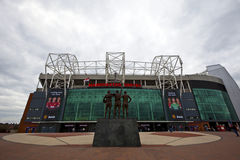 Manchester United Football Club stadium. MANCHESTER, ENGLAND - April 21: Old Trafford stadium is home to Manchester United one of the wealthiest and most widely Stock Image