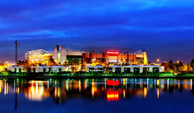 Manchester United Football Club. 24th November 2013, view of Manchester United Football Club from Salford Quays. Machester United is an English professional Stock Images