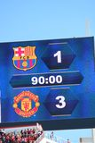 Manchester United gegen Barcelona an der internationalen Meisterschaft Stockbilder