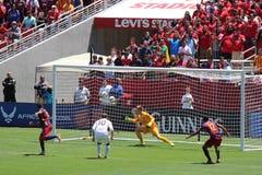 Manchester United gegen Barcelona an der internationalen Meisterschaft Lizenzfreies Stockbild