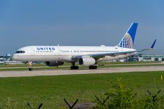 United Airlines Boeing 757 stock photography