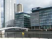 BBC on Salford Quay, Manchester stock image